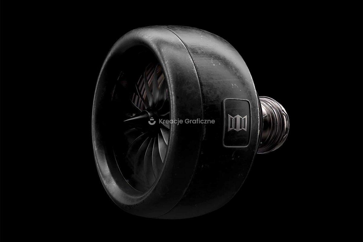 wizualizacje 3d, silnik lotniczy, wizualizacje produktów